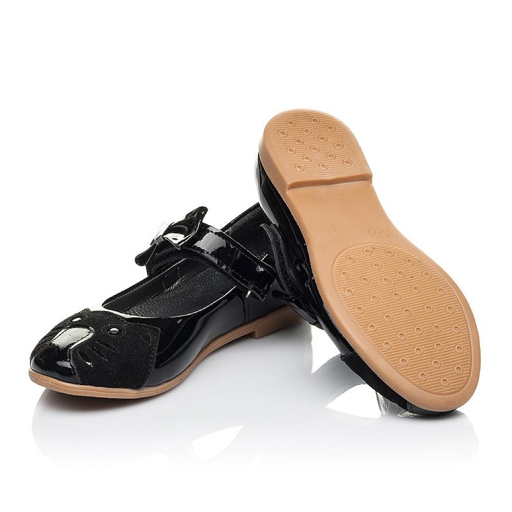 Детские туфли Woopy Orthopedic черные для девочек натуральная лаковая кожа размер 26-36 (4133) Фото 2
