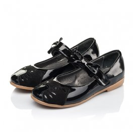 Детские туфли Woopy Orthopedic черные для девочек натуральная лаковая кожа размер 26-36 (4133) Фото 3