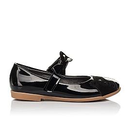 Детские туфли Woopy Orthopedic черные для девочек натуральная лаковая кожа размер 26-36 (4133) Фото 4