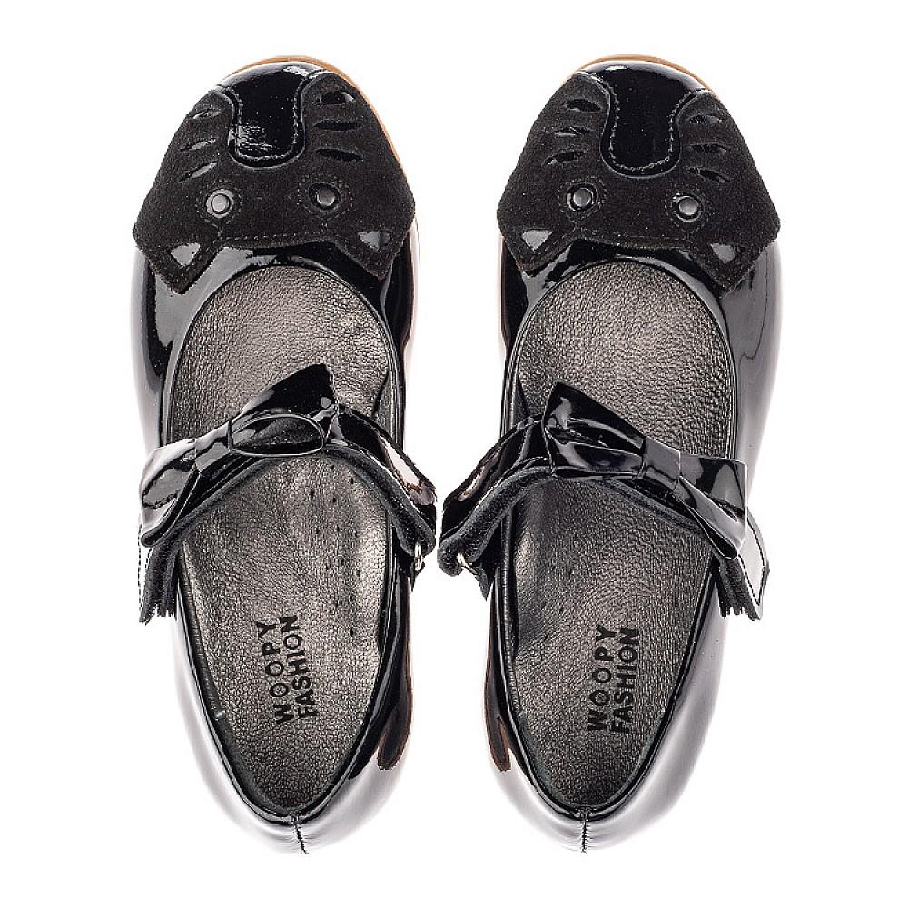 Детские туфли Woopy Orthopedic черные для девочек натуральная лаковая кожа размер 26-36 (4133) Фото 5