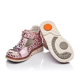 Детские закрытые босоножки Woopy Orthopedic розовые для девочек натуральный нубук размер 18-22 (4134) Фото 2