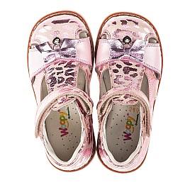 Детские закрытые босоножки Woopy Orthopedic розовые для девочек натуральный нубук размер 18-22 (4134) Фото 5