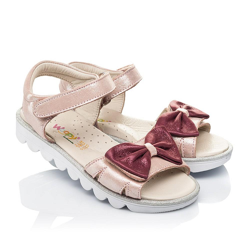 Детские босоножки Woopy Orthopedic розовые для девочек натуральный нубук размер 26-36 (4135) Фото 1