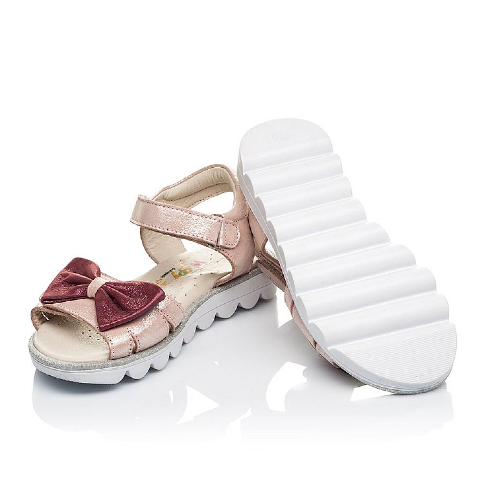 Детские босоножки Woopy Orthopedic розовые для девочек натуральный нубук размер 26-36 (4135) Фото 2