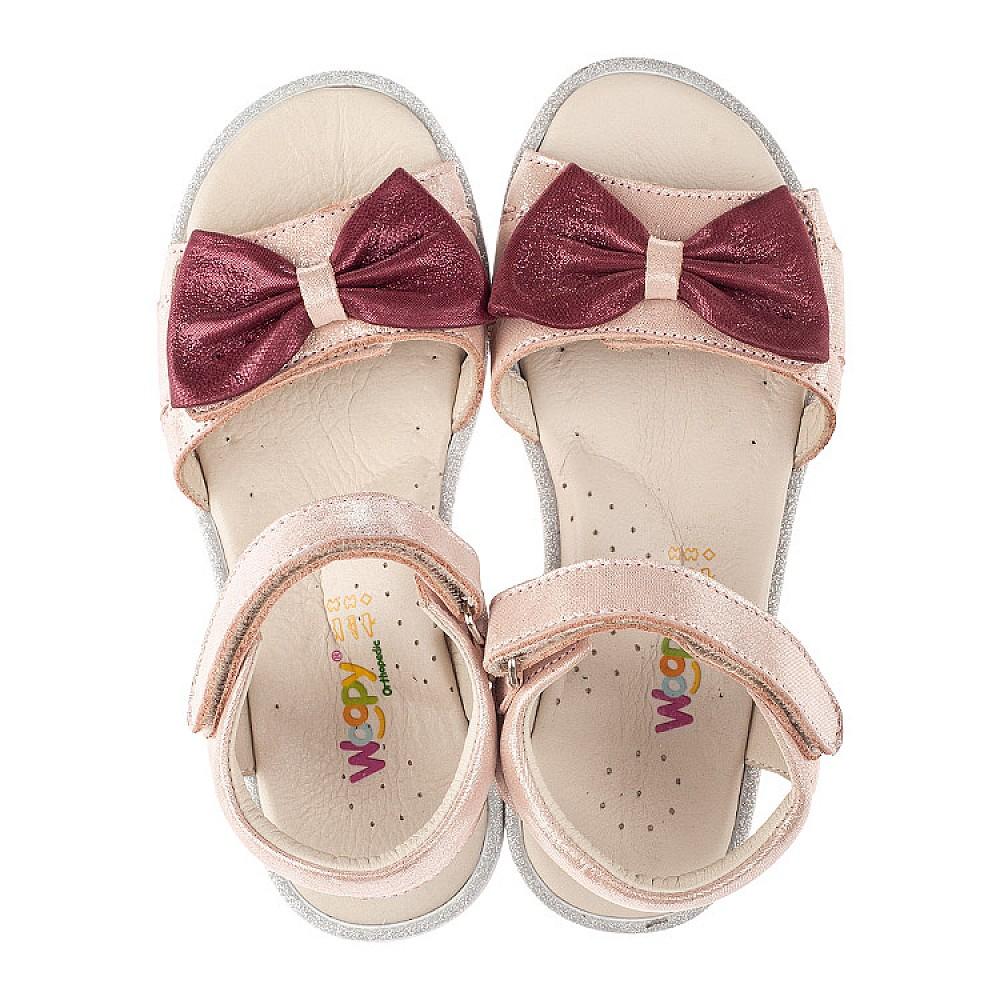 Детские босоножки Woopy Orthopedic розовые для девочек натуральный нубук размер 26-36 (4135) Фото 5