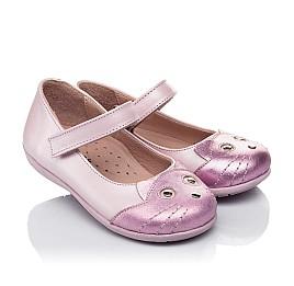 Детские туфли Woopy Orthopedic розовые для девочек натуральный нубук размер 19-22 (4136) Фото 1
