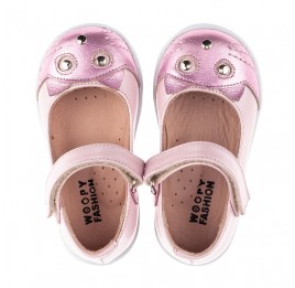 Детские туфли Woopy Orthopedic розовые для девочек натуральный нубук размер 19-22 (4136) Фото 10