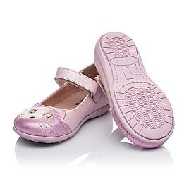 Детские туфли Woopy Orthopedic розовые для девочек натуральный нубук размер 19-22 (4136) Фото 3