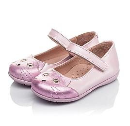Детские туфли Woopy Orthopedic розовые для девочек натуральный нубук размер 19-22 (4136) Фото 5