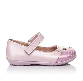 Детские туфли Woopy Orthopedic розовые для девочек натуральный нубук размер 19-22 (4136) Фото 7