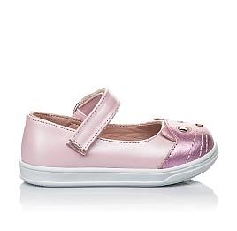 Детские туфли Woopy Orthopedic розовые для девочек натуральный нубук размер 19-22 (4136) Фото 8