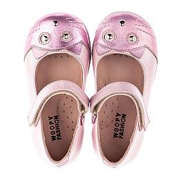 Детские туфли Woopy Orthopedic розовые для девочек натуральный нубук размер 19-22 (4136) Фото 9
