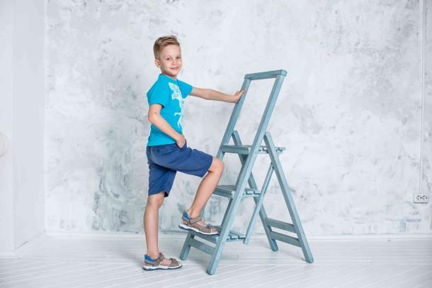 Мальчик обут в детские босоножки Woopy Orthopedic серые (4139) Фото 1