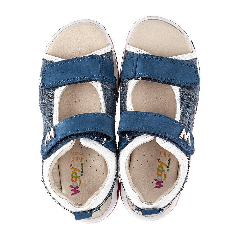 Детские босоножки Woopy Orthopedic синие для мальчиков натуральный нубук, деним размер 26-40 (4141) Фото 5