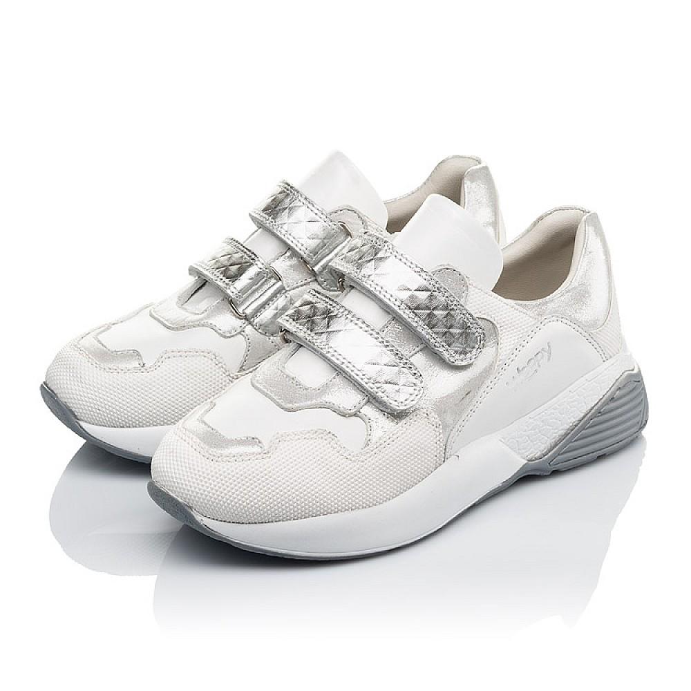 Детские кроссовки Woopy Orthopedic белые для девочек натуральная кожа размер 26-40 (4145) Фото 3