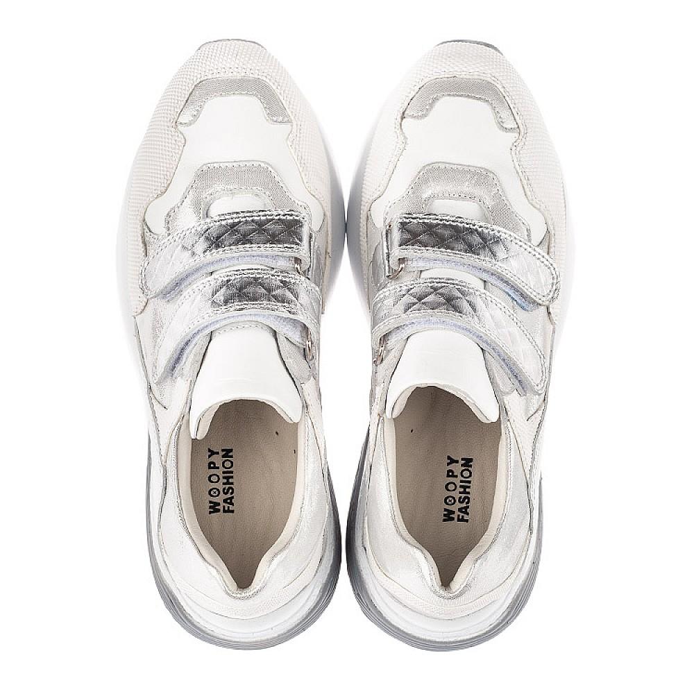 Детские кроссовки Woopy Orthopedic белые для девочек натуральная кожа размер 26-40 (4145) Фото 5