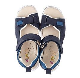 Детские босоножки Woopy Orthopedic синие для мальчиков натуральный нубук размер 35-36 (4146) Фото 5