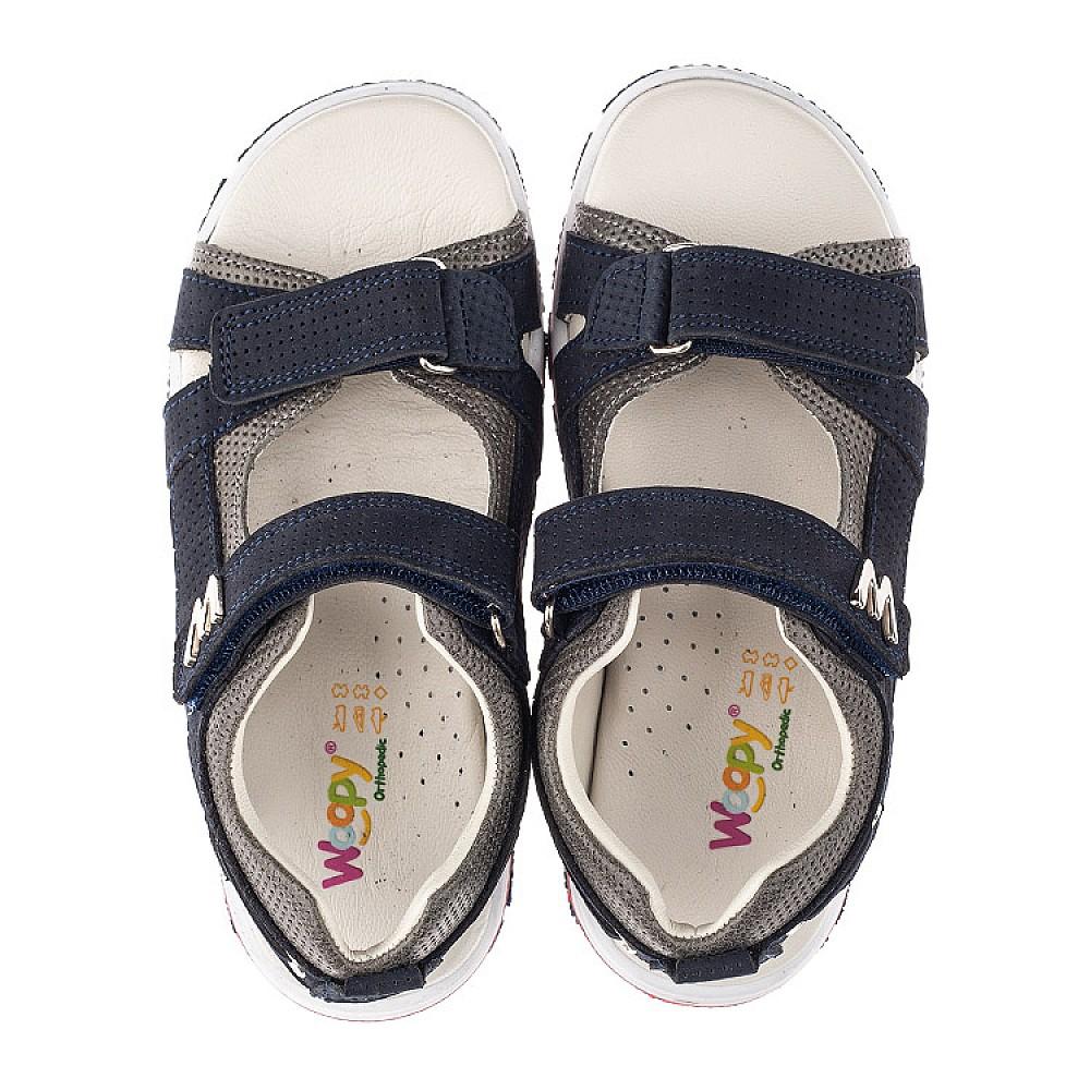Детские босоножки Woopy Orthopedic синие для мальчиков натуральный нубук размер 27-36 (4147) Фото 5