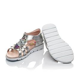 Детские босоножки Woopy Orthopedic серебряные для девочек натуральная кожа размер 26-26 (4152) Фото 2