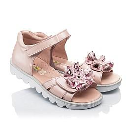 Детские босоножки Woopy Orthopedic розовые для девочек натуральная кожа размер 31-37 (4153) Фото 1