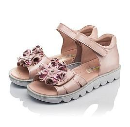 Детские босоножки Woopy Orthopedic розовые для девочек натуральная кожа размер 31-37 (4153) Фото 3