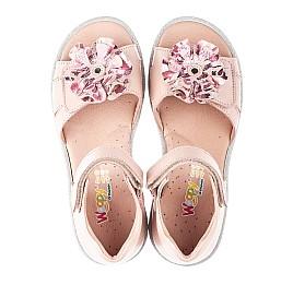 Детские босоножки Woopy Orthopedic розовые для девочек натуральная кожа размер 31-37 (4153) Фото 5