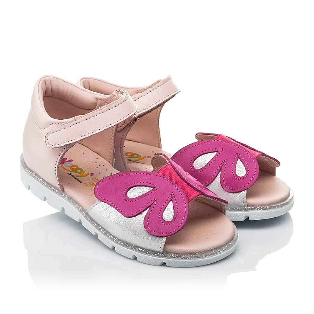 Детские босоножки Woopy Orthopedic розовые для девочек натуральная кожа размер 21-34 (4155) Фото 1