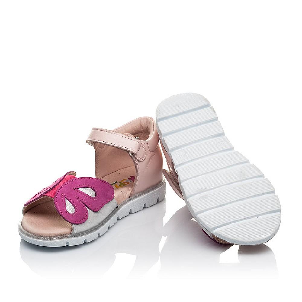 Детские босоножки Woopy Orthopedic розовые для девочек натуральная кожа размер 21-34 (4155) Фото 2
