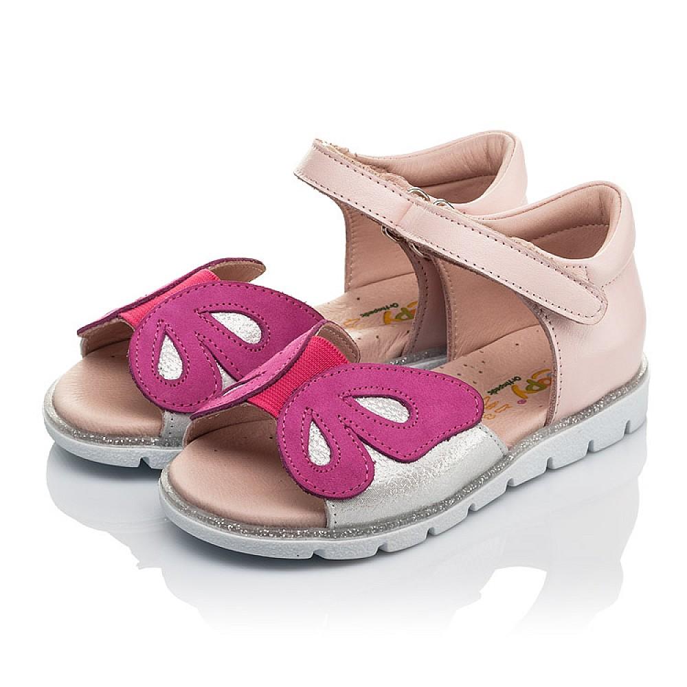 Детские босоножки Woopy Orthopedic розовые для девочек натуральная кожа размер 21-34 (4155) Фото 3