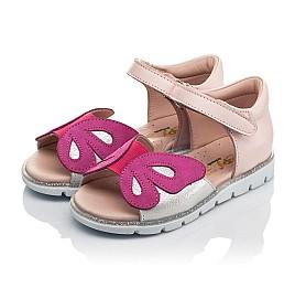 Детские босоножки Woopy Orthopedic розовые для девочек натуральная кожа размер 21-29 (4155) Фото 3