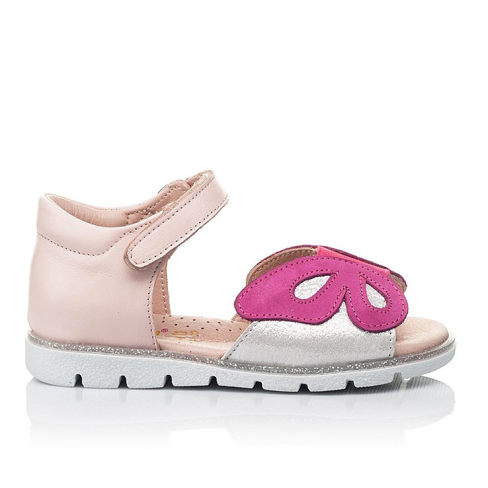 Детские босоножки Woopy Orthopedic розовые для девочек натуральная кожа размер 21-34 (4155) Фото 4