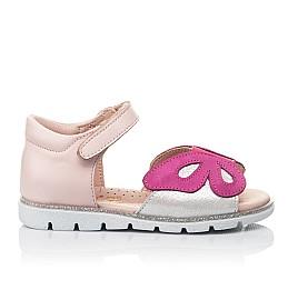 Детские босоножки Woopy Orthopedic розовые для девочек натуральная кожа размер 21-29 (4155) Фото 4