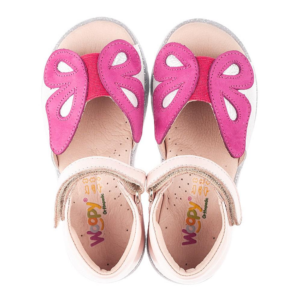 Детские босоножки Woopy Orthopedic розовые для девочек натуральная кожа размер 21-34 (4155) Фото 5