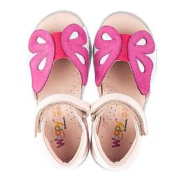 Детские босоножки Woopy Orthopedic розовые для девочек натуральная кожа размер 21-29 (4155) Фото 5