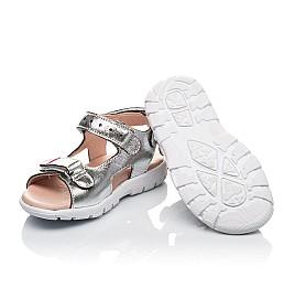 Детские босоножки Woopy Orthopedic серебряные для девочек натуральная кожа размер 21-30 (4156) Фото 2