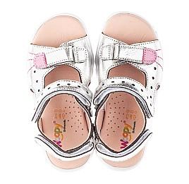 Детские босоножки Woopy Orthopedic серебряные для девочек натуральная кожа размер 21-30 (4156) Фото 5