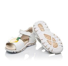 Детские босоножки Woopy Orthopedic белые для девочек натуральная кожа размер 21-30 (4157) Фото 2