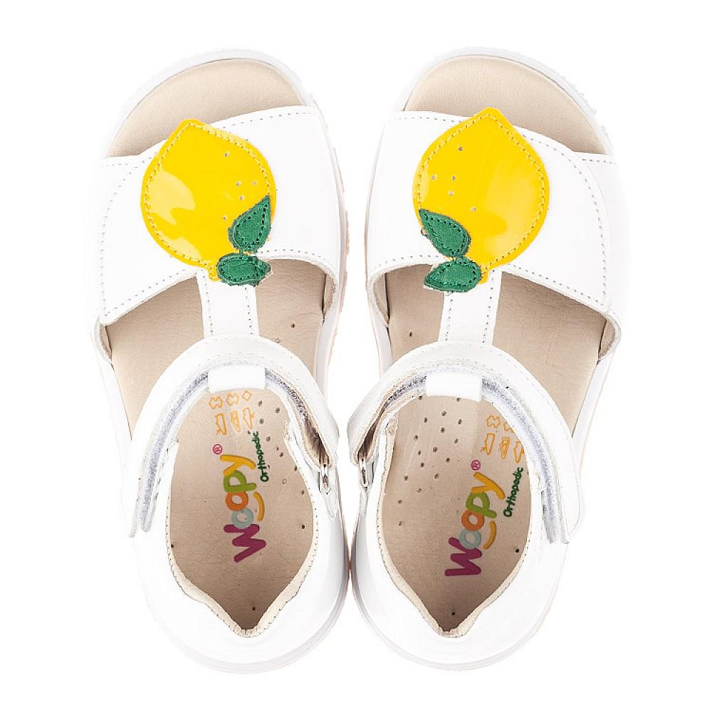 Детские босоножки Woopy Orthopedic белые для девочек натуральная кожа размер 21-30 (4157) Фото 5