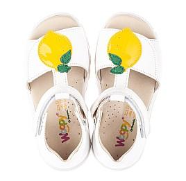Детские босоножки Woopy Orthopedic белые для девочек натуральная кожа размер 22-30 (4157) Фото 5