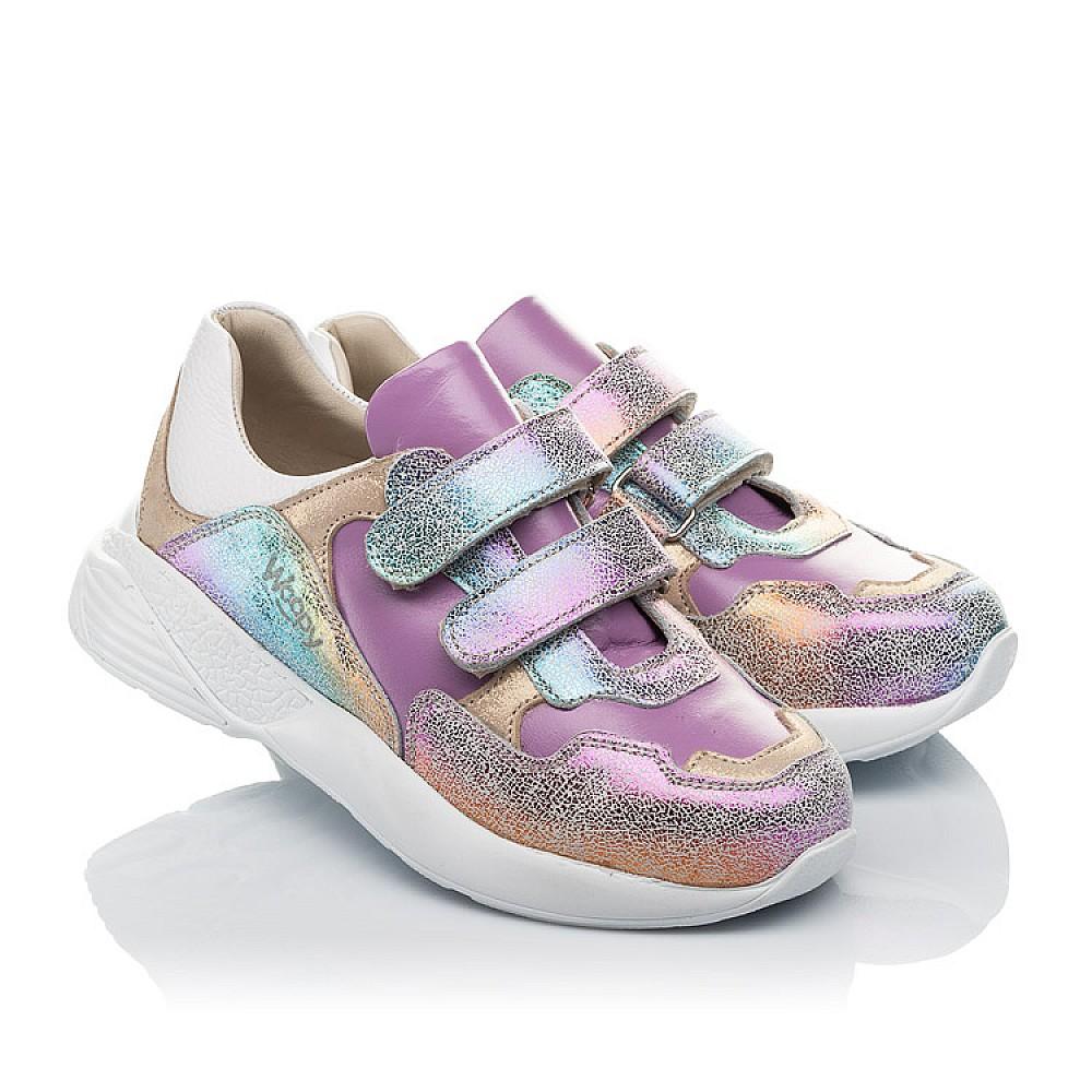 Детские кроссовки Woopy Orthopedic фиолетовые для девочек натуральный нубук размер 26-30 (4162) Фото 1