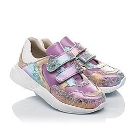 Детские кроссовки Woopy Orthopedic фиолетовые для девочек натуральный нубук размер 27-30 (4162) Фото 1