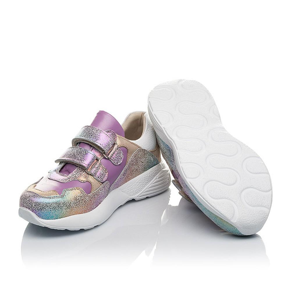 Детские кроссовки Woopy Orthopedic фиолетовые для девочек натуральный нубук размер 26-30 (4162) Фото 2