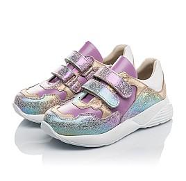 Детские кроссовки Woopy Orthopedic фиолетовые для девочек натуральный нубук размер 27-30 (4162) Фото 3
