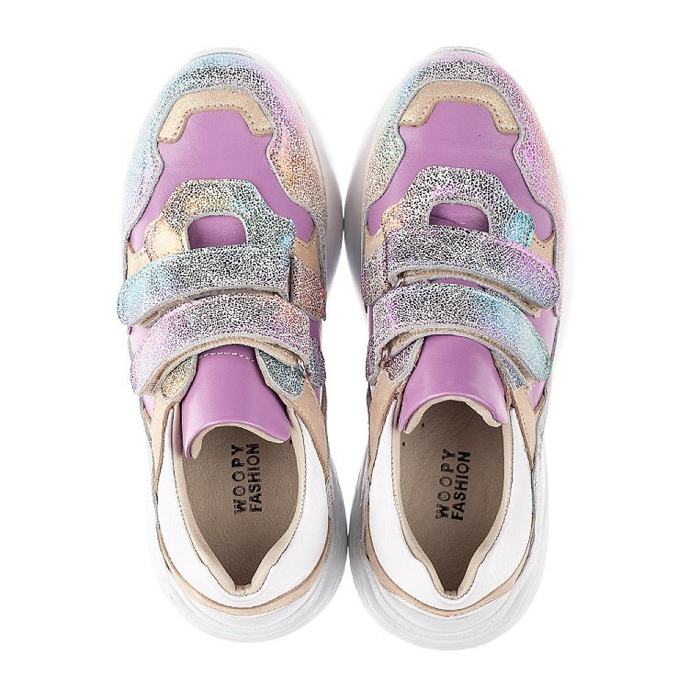Детские кроссовки Woopy Orthopedic фиолетовые для девочек натуральный нубук размер 26-30 (4162) Фото 5