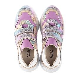 Детские кроссовки Woopy Orthopedic фиолетовые для девочек натуральный нубук размер 27-30 (4162) Фото 5