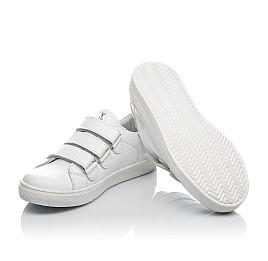 Детские кеды Woopy Orthopedic белые для девочек натуральная кожа размер 29-35 (4164) Фото 2