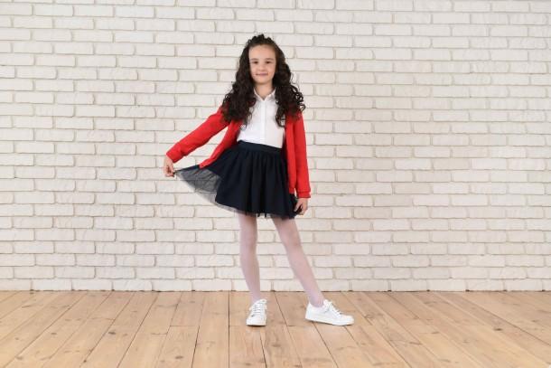 Девочка обута в детские кеды Woopy Orthopedic белые (4165) Фото 1