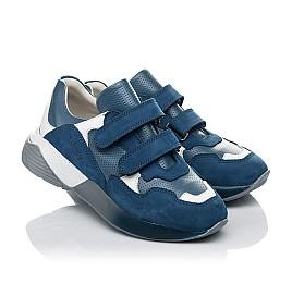 Детские кроссовки Woopy Orthopedic синие для мальчиков натуральный нубук размер 27-35 (4167) Фото 1