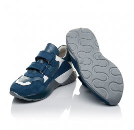 Детские кроссовки Woopy Orthopedic синие для мальчиков натуральный нубук размер 26-35 (4167) Фото 2