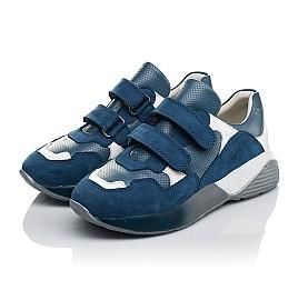 Детские кроссовки Woopy Orthopedic синие для мальчиков натуральный нубук размер 26-35 (4167) Фото 3